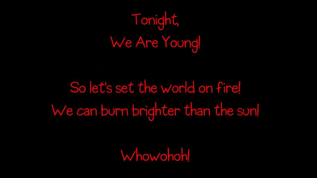 Fun We Are Young Ft Janelle Monáe Lyrics Hd Youtube
