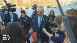 WATCH: Senate Democratic Leader Chuck Schumer statement after meeting with President Trump