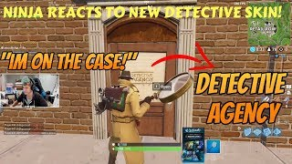 NINJA REACTS TO NEW DETECTIVE SKIN! (Fortnite Stream Highlights)
