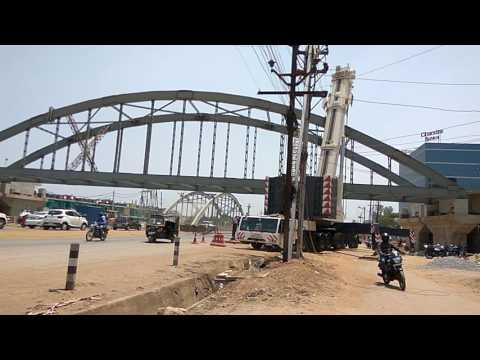 Raipur Chhattisgarh first Largest Canal Road Over Bridge Construction