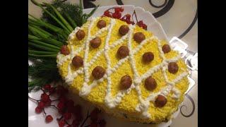 Салат ананас с курицей! Бесподобно вкусный и праздничный салат!!!
