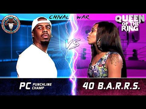 PC vs 40 BARRS (male vs female rap battle) | BULLPEN vs QOTR - CHIVAL WAR