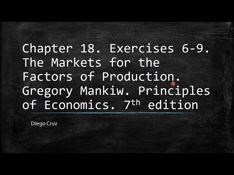 Chapter 18. The Markets for the Factors of Production. Exercises  6-9.
