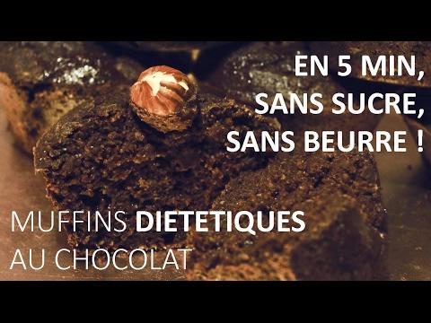 muffins-dietetiques-au-chocolat---en-5-min,-sans-sucre,-sans-beurre-!