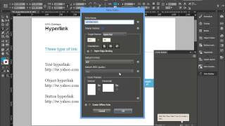 Indesign -Folio Overlays - Hyperlink