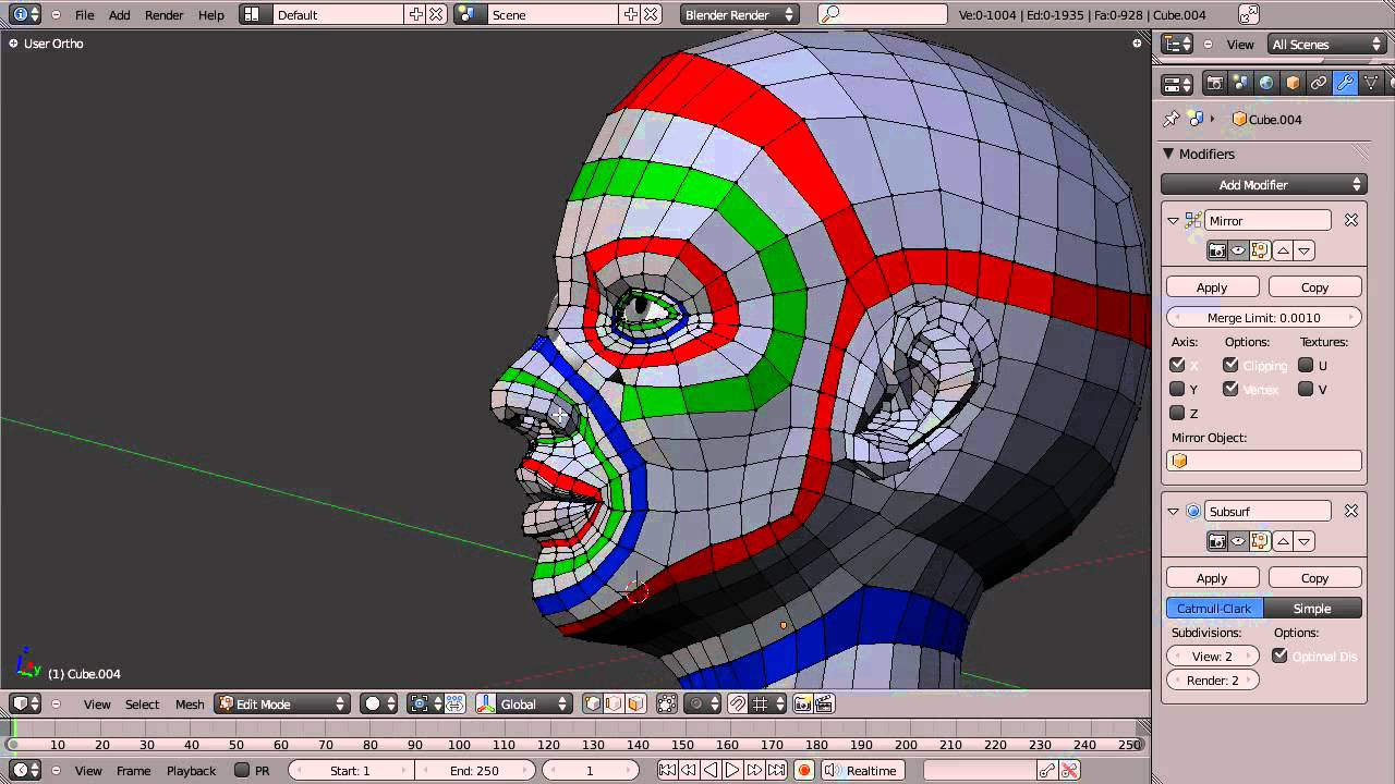 Blender Character Modeling Guide : Blender topology collection head overview youtube