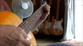 "Solo Guitar Playing~japanese Enka Song ""Please don`t look back"""