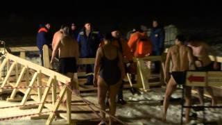 Крещение купание в проруби Зеленоград 18.01.2015