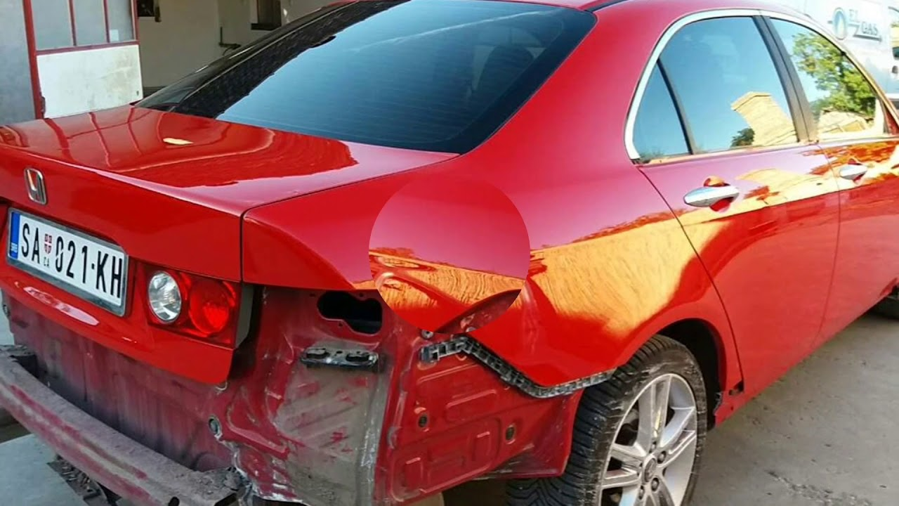 honda accord upgrade with mugen body kit ferrari red paint [ 1280 x 720 Pixel ]