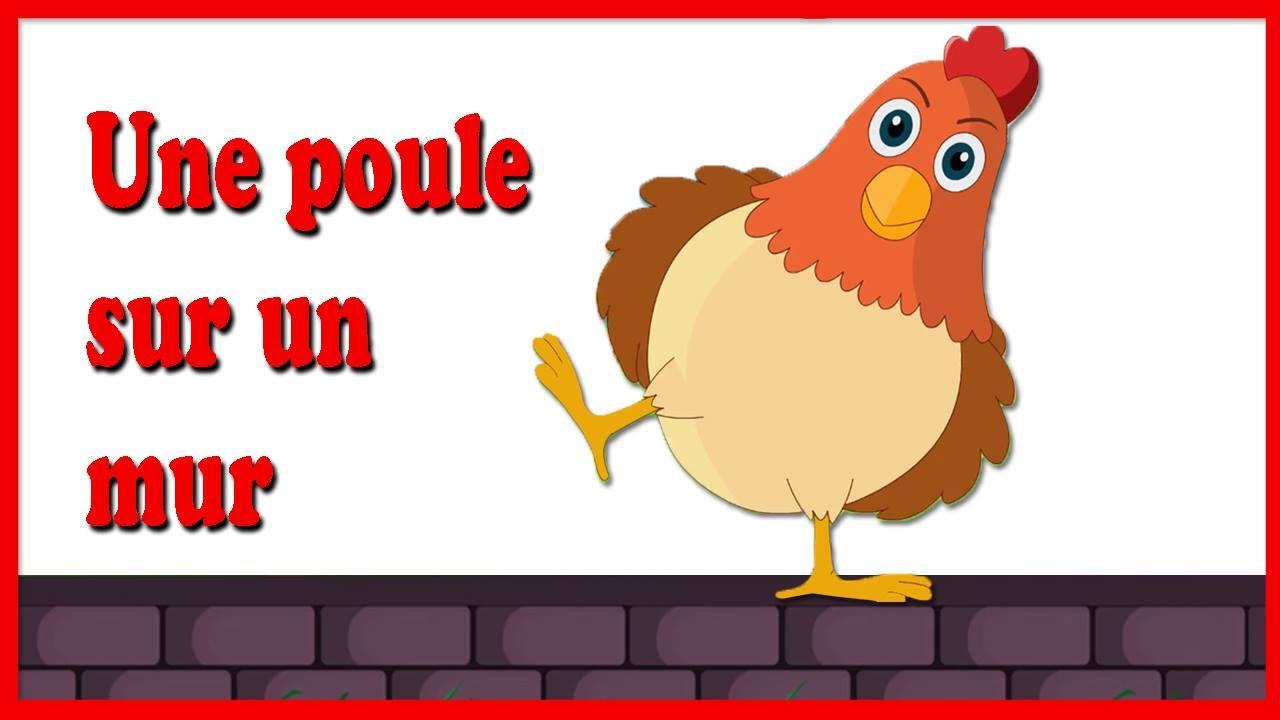 une poule sur un mur fran ais comptine french nursery rhyme youtube. Black Bedroom Furniture Sets. Home Design Ideas