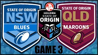 RUGBY LEAGUE LIVE 3 | NZ WARRIORS CAREER MODE | STATE OF ORIGIN GAME 3 (#15)