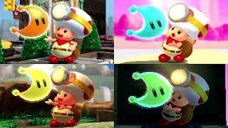 Captain Toad: Treasure Tracker (3DS) - All Super Mario Odyssey Courses