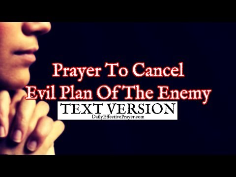 Prayer To Cancel Evil Plan Of The Enemy (Text Version - No Sound)