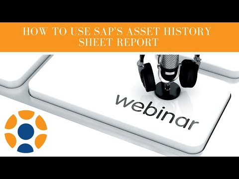 How to use SAP's Asset History Sheet report