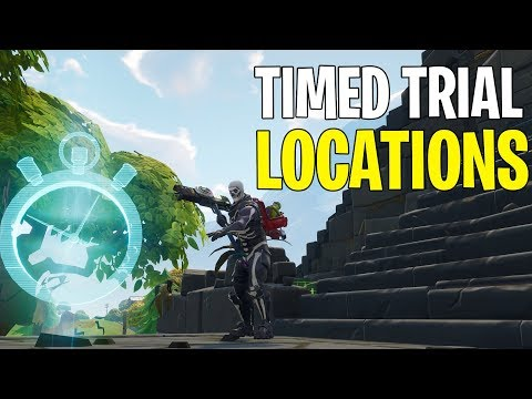 All Complete Timed Trial Locations! | Fortnite Season 6 Week 3 Challenges |