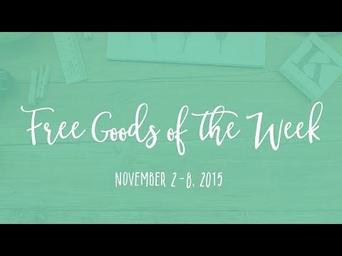 6 Free Design Goods Roundup - Week of November 2, 2015