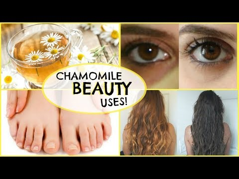 5 Beauty Uses Of CHAMOMILE TEA! �� UNDER EYE BAGS, DARK CIRCLES, FACE TONER, ANXIETY, HAIR AND MORE!