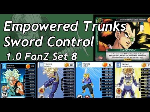 Saiyan Empowered Trunks Sword Control 1.0 FanZ Panini DBZ TCG