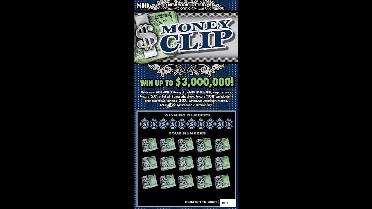 $10 - MONEY CLIP - NEW - WIN! Lottery Bengal Scratch Off instant tickets  NEW TICKET TUESDAY WIN!!