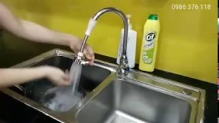 Vòi nước rửa chén, bát tăng áp xoay 360 độ