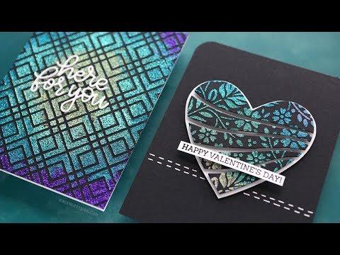 Colorful Glitter Paste & Stencils