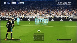 PES 2018 | Real Madrid vs Barcelona | Free Kick Goal CR7 | el clasico | final UEFA Champions League