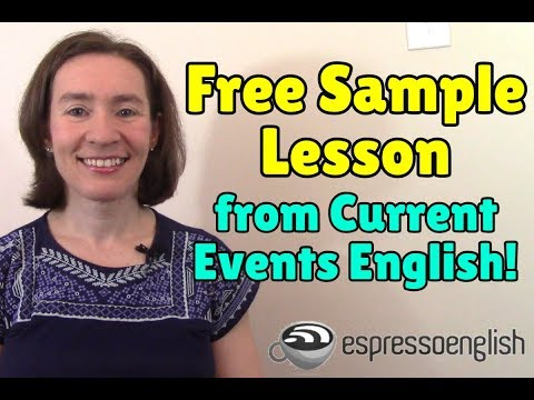 Free Sample Lesson from the Current Events English Course