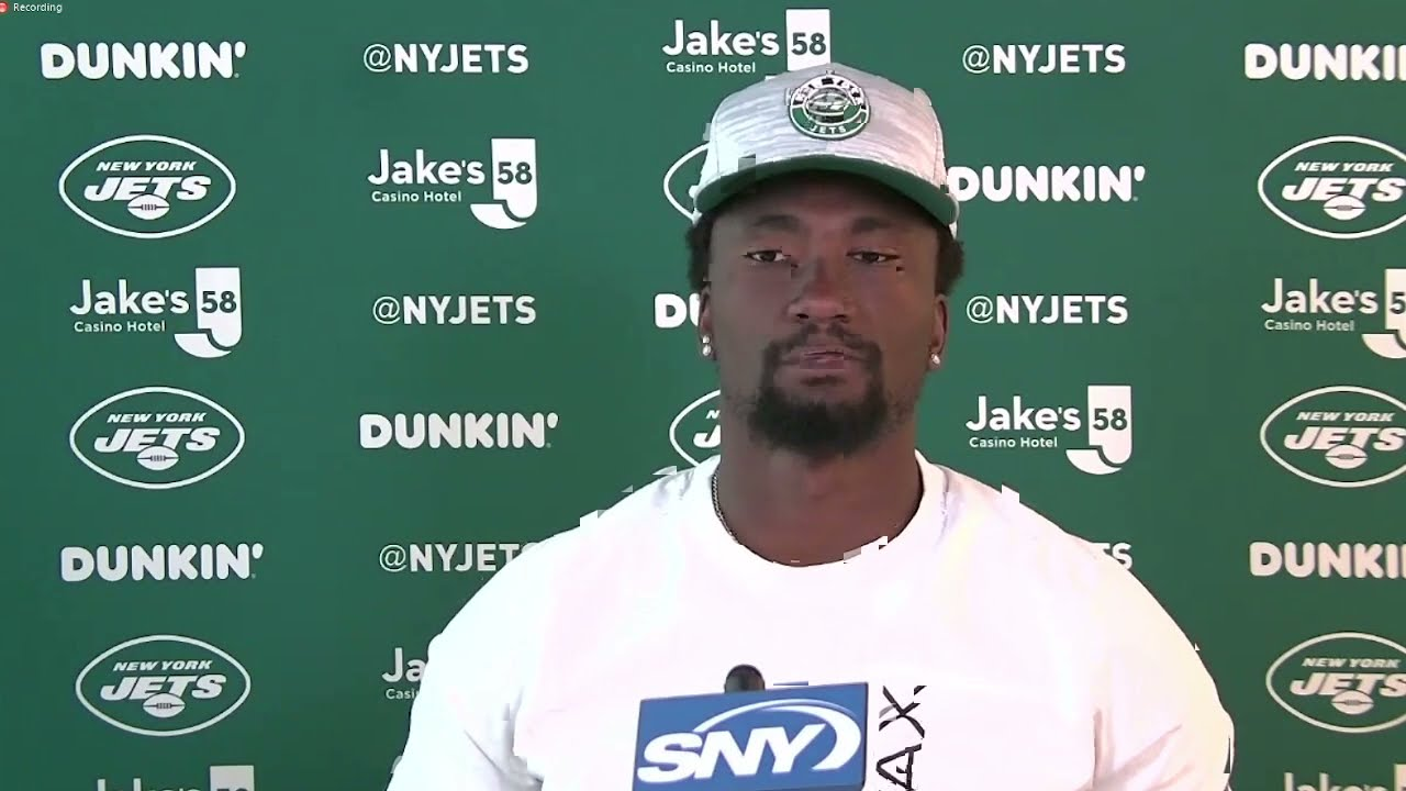 """""""It's Definitely Getting There Every Day""""   WR Corey Davis Media Availability   The New York Jets"""