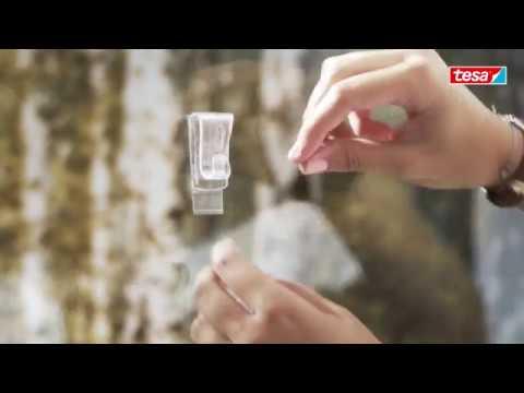 Tesa Powerstrips Transparent Deco Haken Large Youtube