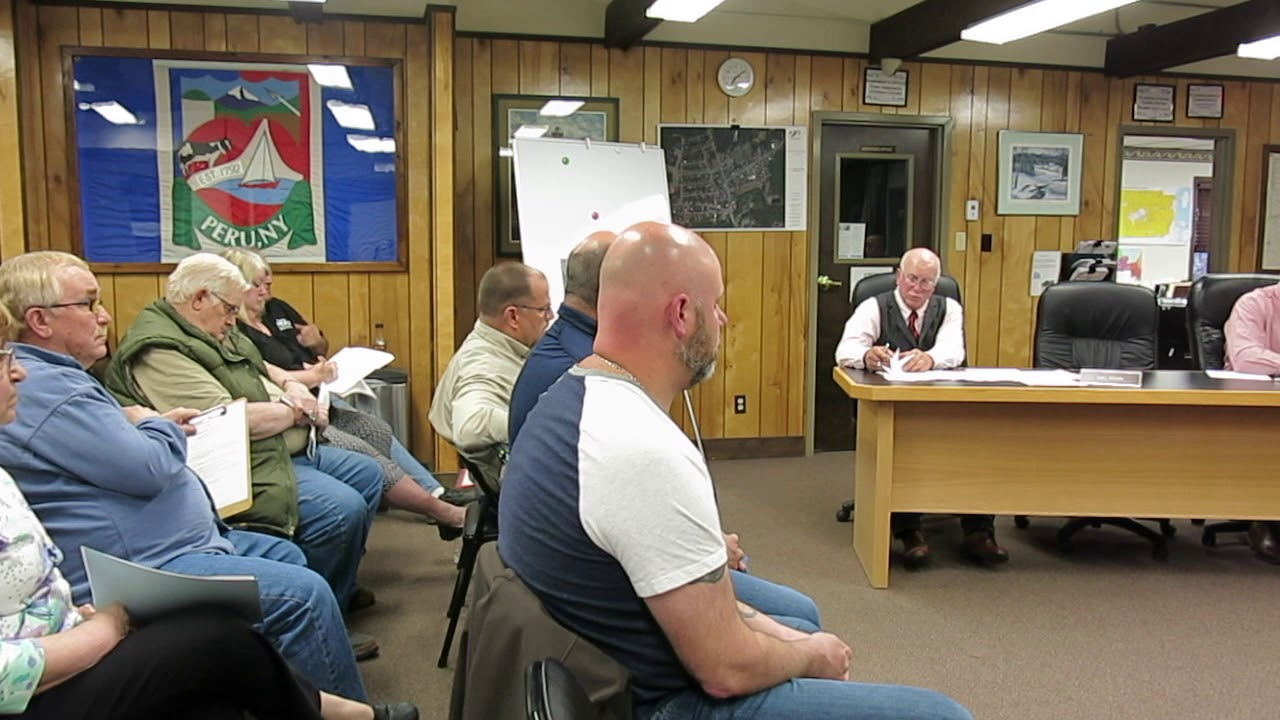 Peru Town Board Meeting  5-13-19