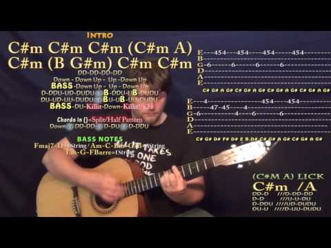 Juju on Dat Beat (Zayion McCall) Guitar Lesson Chord Chart