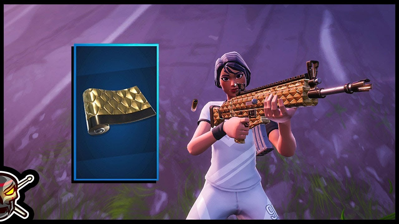 The *NEW* GOLDEN SCALES Weapon Wrap in Fortnite!