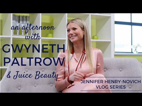 An afternoon with GWYNETH PALTROW and Juice Beauty  Jennifer HenryNovich VLOGS