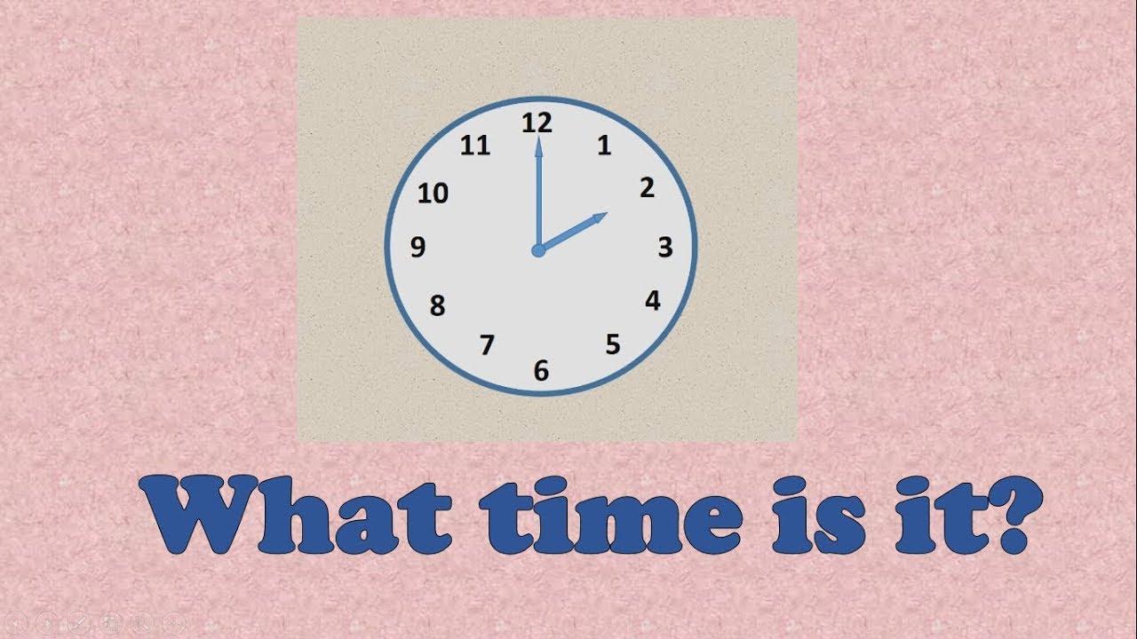 Время на английском языке - YouTube