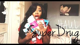 SUPERDRUG HAUL - SKIN CARE, HAIR CARE & MAKE UP + GIVEAWAY | AnnieDreaXO Thumbnail