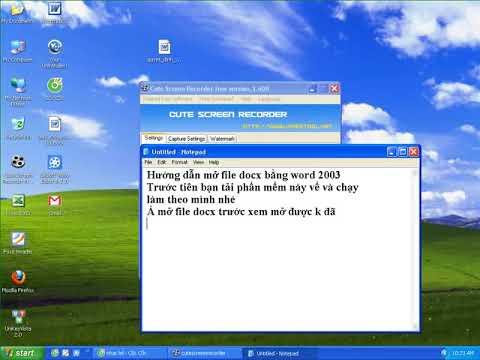 Hướng dẫn Mở file docx bằng word 2003