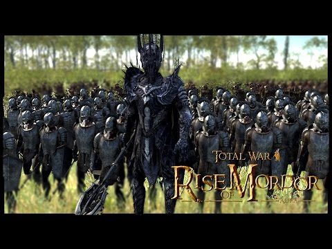 Sauron Lord of Darkness  10,000 MenElvesDwarves  Rise Of Mordor Total War Gameplay