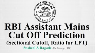 RBI Assistant Mains Cut Off, Sectional Cutoff.