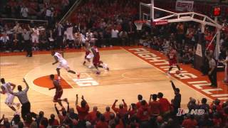 Illinois Basketball Highlights vs Indiana 12/31/13