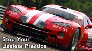 Ineffective Practice is Ineffective, So Stop. (Sim Racing Tips)