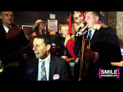 """VIDDING AROUND: Lady GaGa & The Brian Newman Quartet perform """"I Can't Give You Anything but Love"""""""