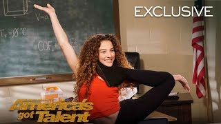 AGT's Talent University: Sofie Dossi Teaches Flexibility - America's Got Talent 2018