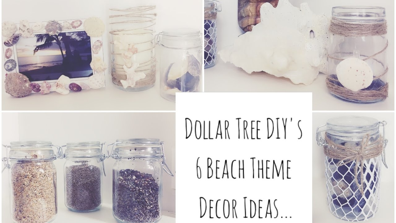 Dollar Tree Diys 6 Beach Decor Ideas Youtube