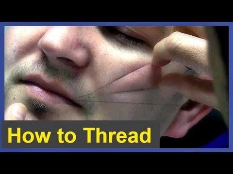 Thread facial hair
