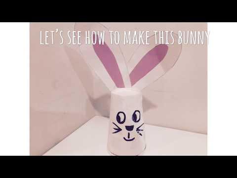 Easter DIY   paper cup bunny  
