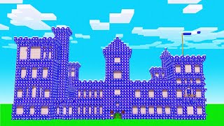 Minecraft BUT the CASTLE is OMEGA LUCKY BLOCKS