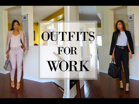HOW TO LOOK STYLISH AT WORK - 4 EXPRESS OUTFIT IDEAS FOR WORK - OFFICE ATTIRE LOOKBOOK