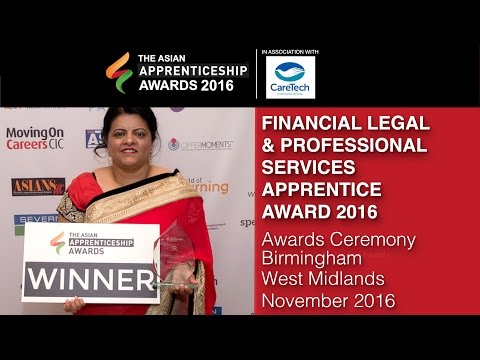 FINANCIAL LEGAL & PROFESSIONAL SERVICES APPRENTICE AWARD 2016 @ The Asian Apprenticeship Awards 2016
