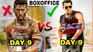 Boxoffice Collection Race 3 vs Baaghi 2 Collection,Race 3 Collection,Race 3 9th day Collection,Race