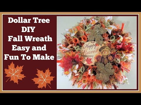 Dollar Tree Diy Fall Wreath 🍂/ Thank you Judy!
